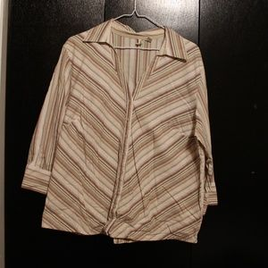 Long sleeve button-up blouse, Size 1X